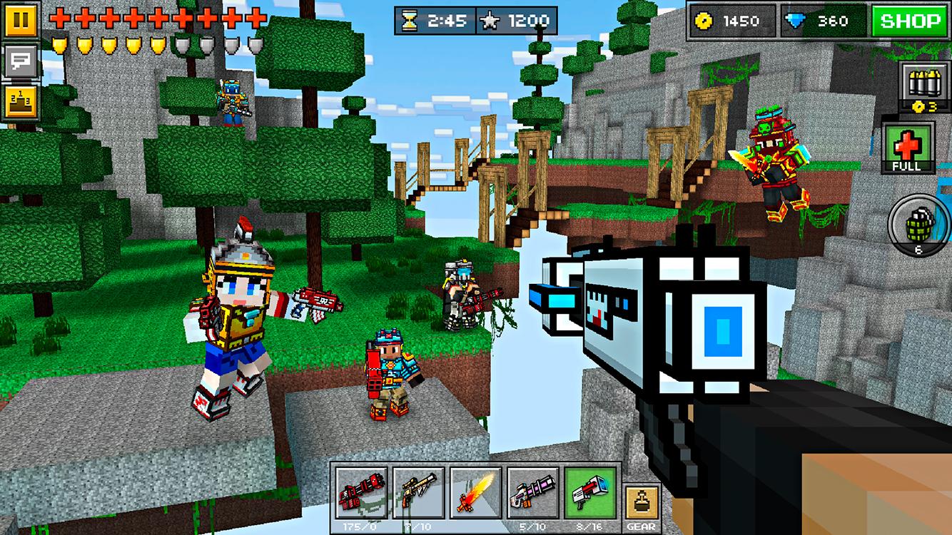 скачать игры на андроид пиксель ган много денег
