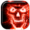 Fiery Skull Skeleton Live WP