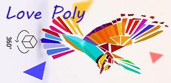 Постер Love Poly - Новая Игра Пазл (3D пазл)